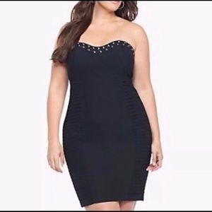 NWT. Torrid strapless mini dress